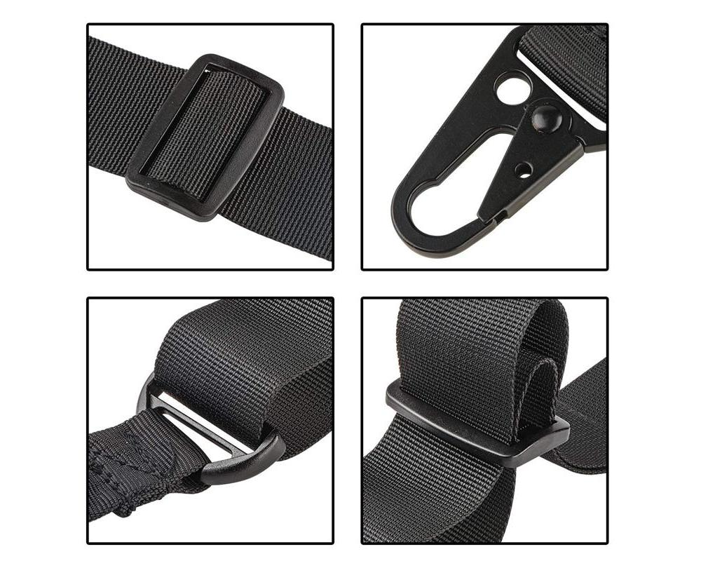 CVLIFE Two Points Sling comes with an elastic bungee cord and thumb loop