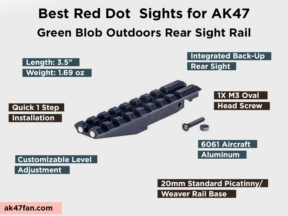 Green Blob Outdoors Rear Sight Rail Review, Pros and Cons