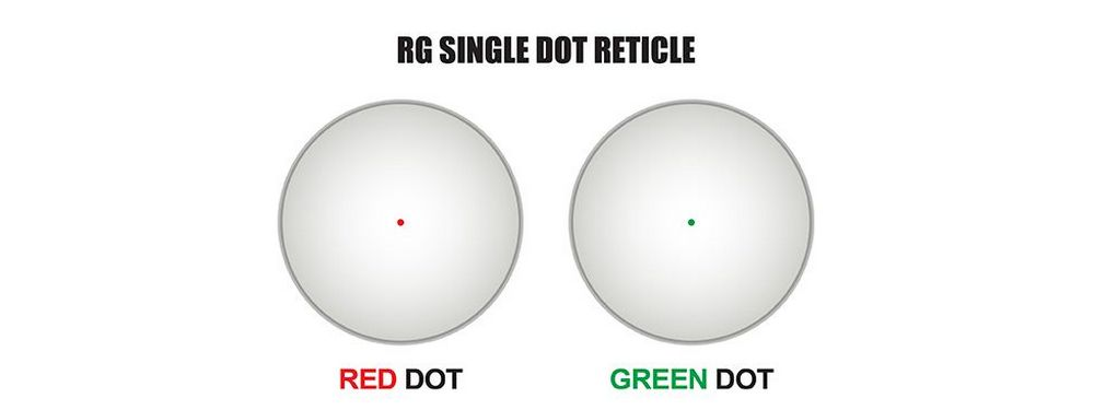 UTG SCP-RD40RGW-A sight scope has a 4 MOA dot with red and green illumination
